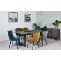 Table 200 cm AWA Bois massif acacia et pieds carré en métal gris