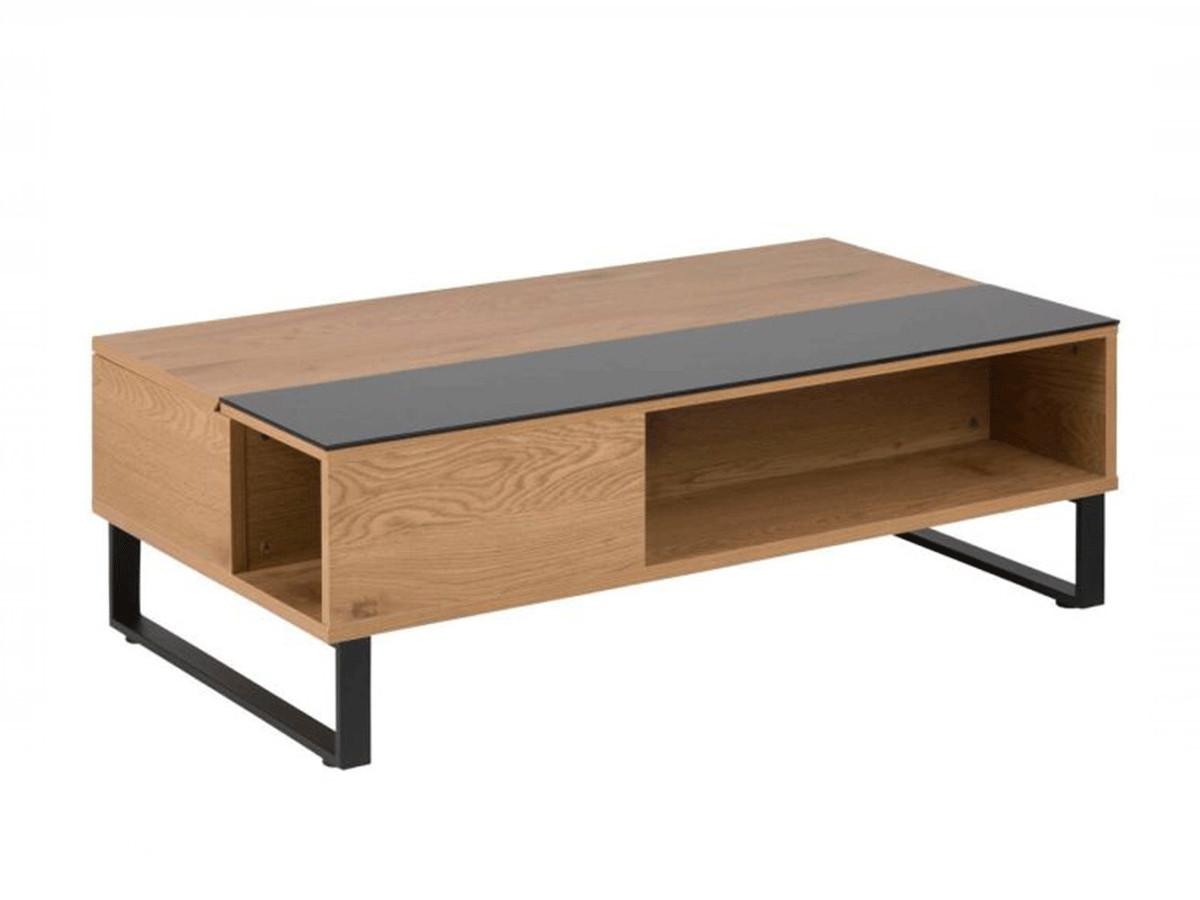 Table basse 110 cm AZEA chêne et noir