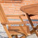 Ensemble table de repas + 6 chaises MARSALA Acacia massif