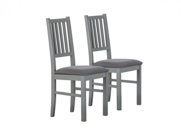 Lot de deux chaises SOLOGNE Gris