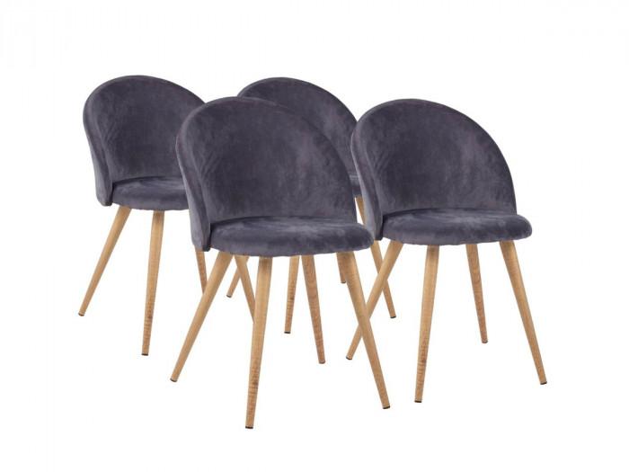 Lot de quatre chaises HALMA