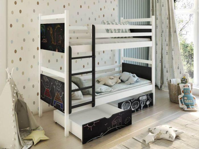 Lit superposé DOMINO 90x190 Blanc