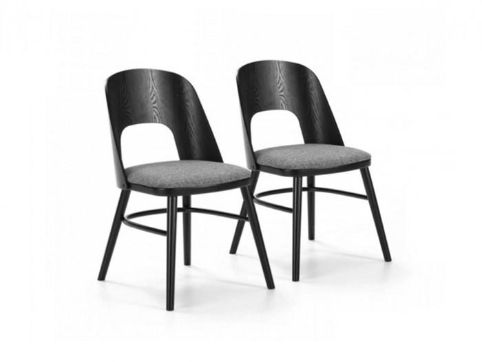 Ensemble de 2 chaises DRAKO Noir