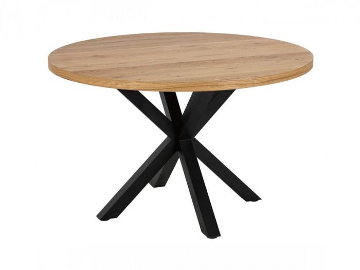Table à manger 120cm LUNA noir et chêne