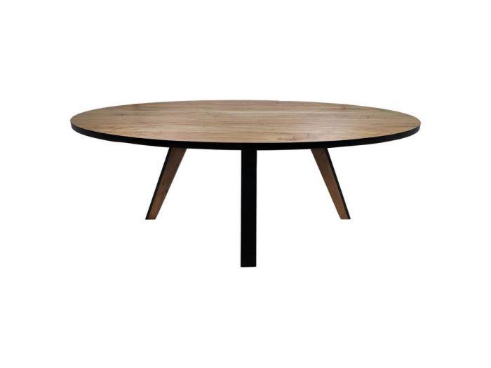 Table ovale MARCEAU Bois d'acacia et pieds métal