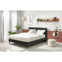 Structure de lit VELVET avec lattes massives pieds carrés en bois wengé 180 x 200 cm