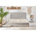 Structure de lit ANJA avec lattes massives pieds en bois naturel 160 x 200 cm