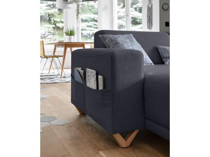 Canapé d'angle panoramique XXL fixe BELLA