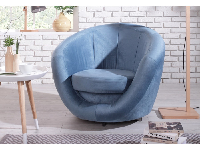 Fauteuil velours OVO