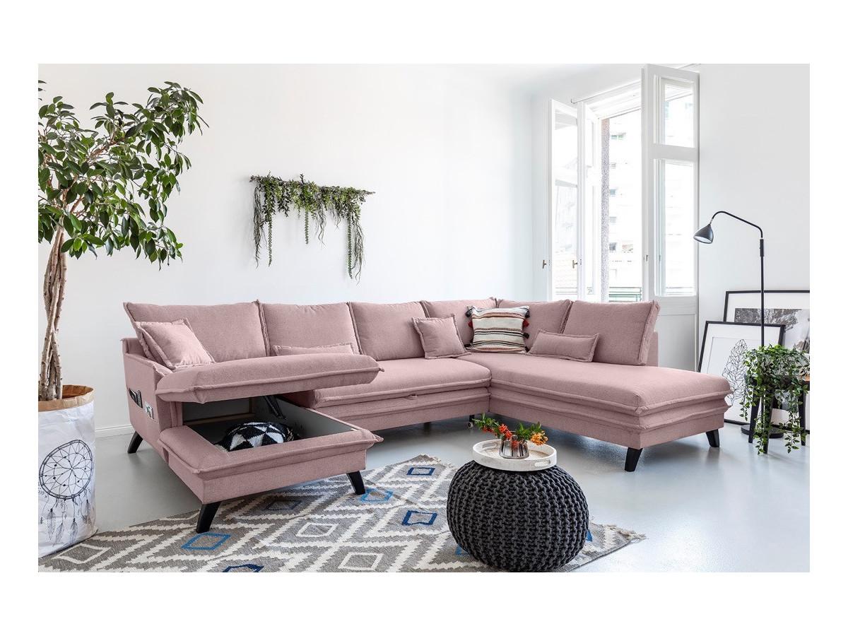 Canapé panoramique convertible coffre BOHO