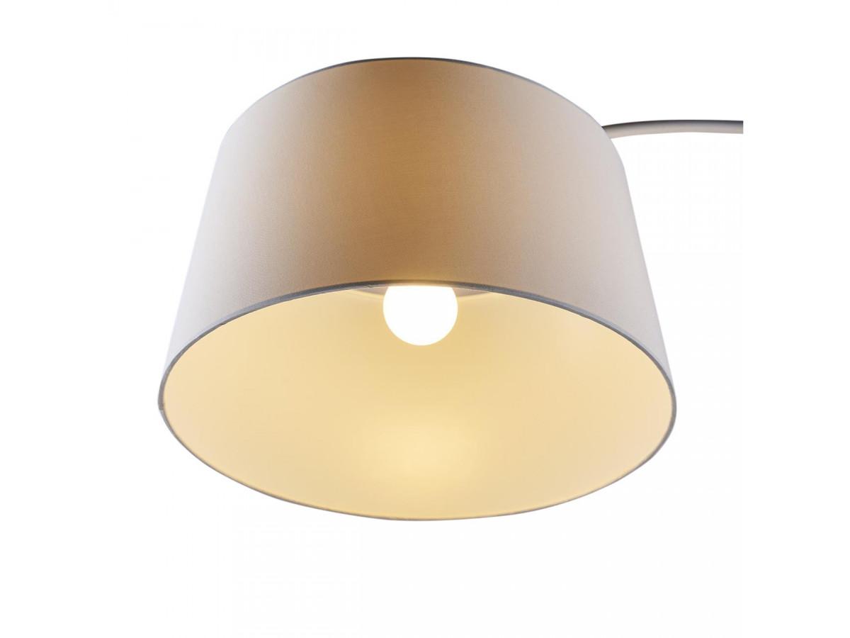 Lampadaire arc en métal