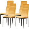 Lot de 4 chaises en velours VILMAUR