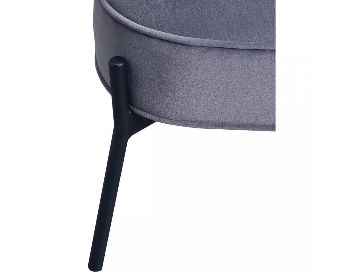 Fauteuil CLIFORD gris anthracite