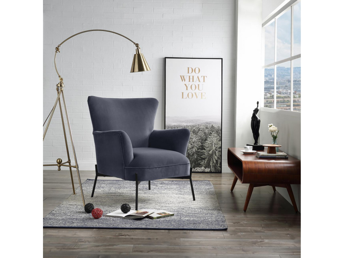 Fauteuil CLIFORD gris anthracite