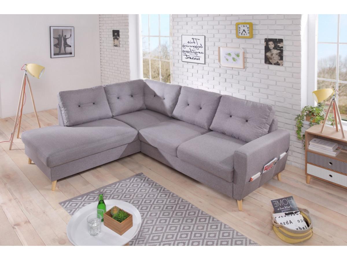 Canapé d'angle fixe L SCANDI
