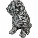 Statue elegante de chien en polyresine Rixi Argent2