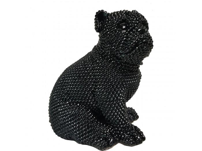 Statue RIXI chien noir
