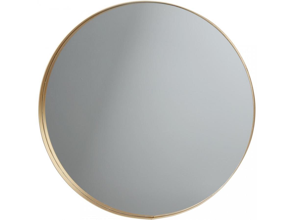 Miroir et tendance de forme ronde en aluminium Graz1
