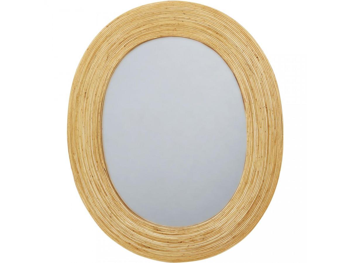 Miroir ovale BADEN en rotin