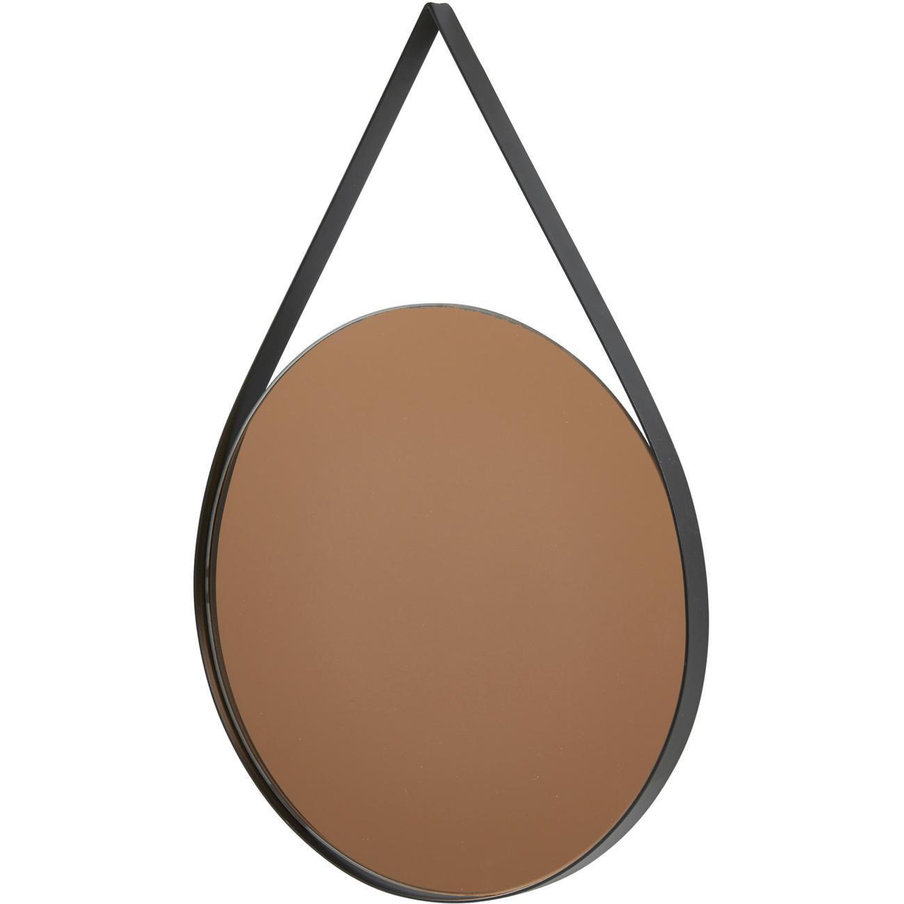 Miroir et tendance de forme ovale avec structure en metal Torn1