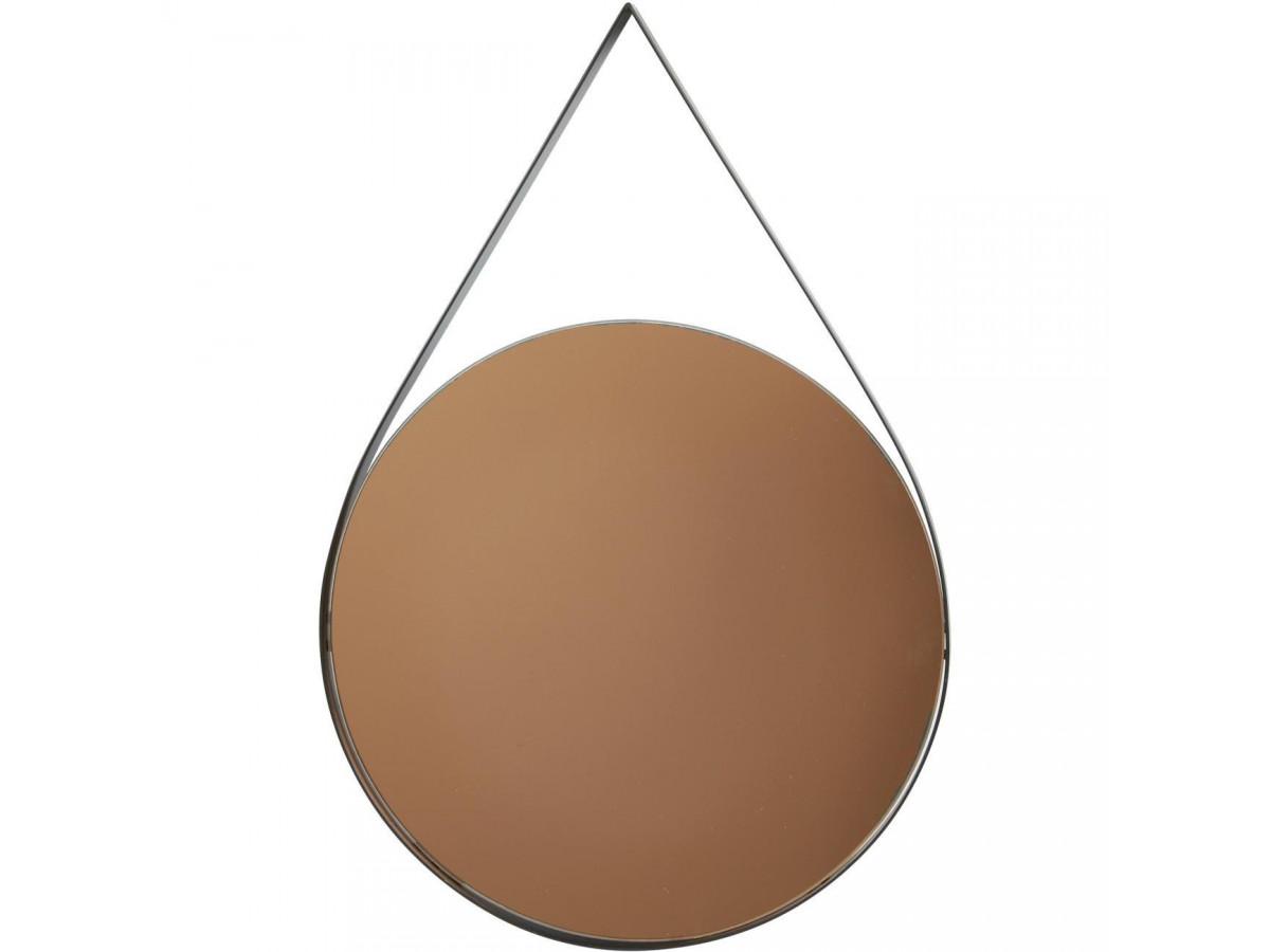 Miroir et tendance de forme ovale avec structure en metal Torn3