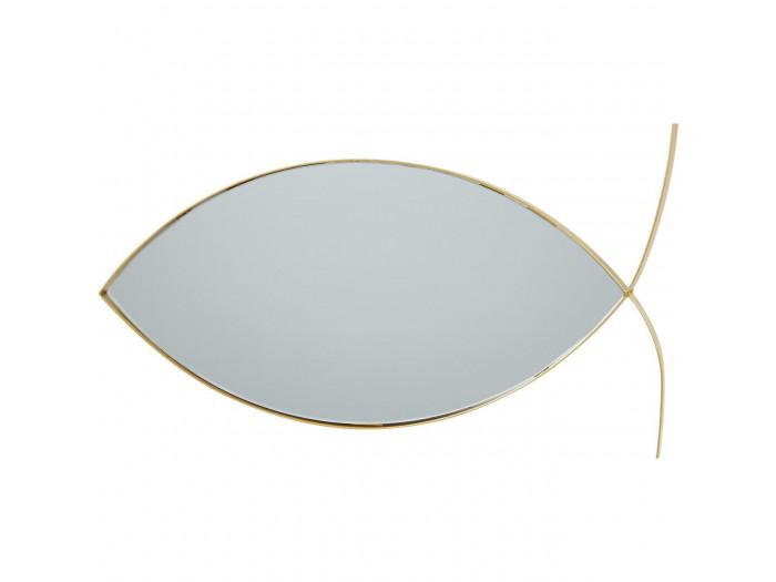 Miroir et tendance en forme poisson avec structure en metal Olga Doré5