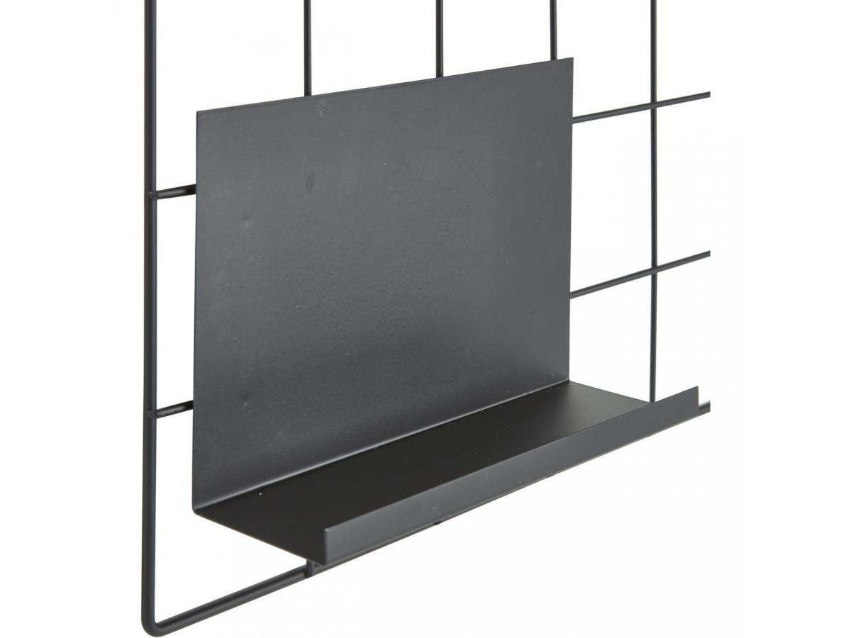 Etagere en metal noir avec tablette et bac a fixer Catane3
