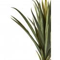 Plante artificielle en polyethylène a 62 feuilles et son pot noir Olla3