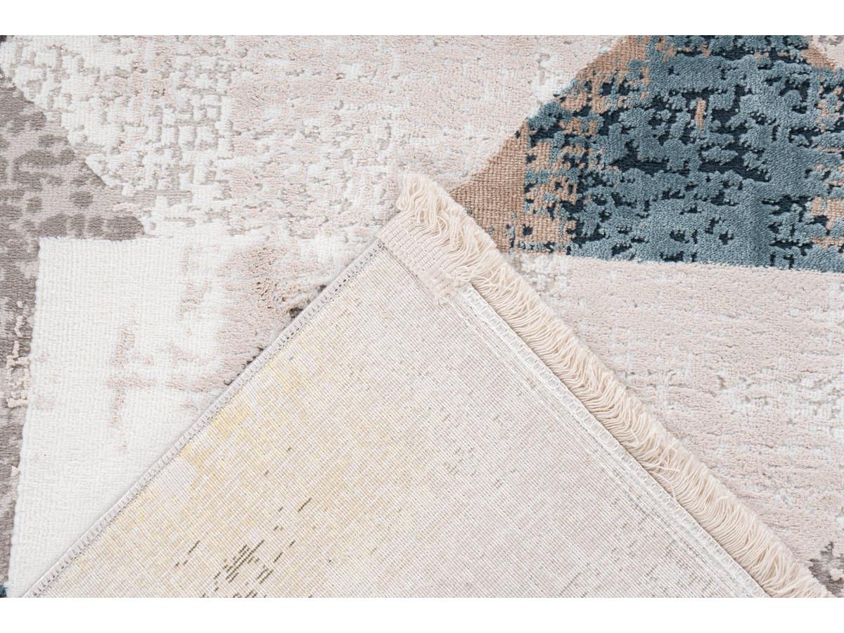 Tapis LORI Gris / Bleu 120cm x 180cm5