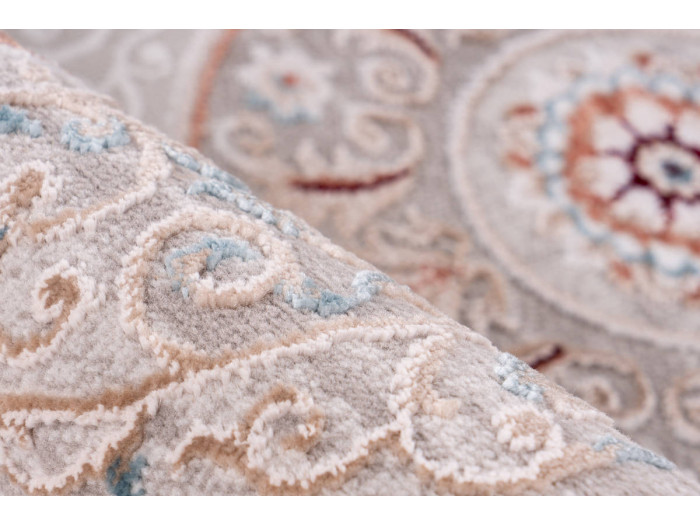 Tapis ZAIR Gris / Rose saumon 120cm x 180cm4