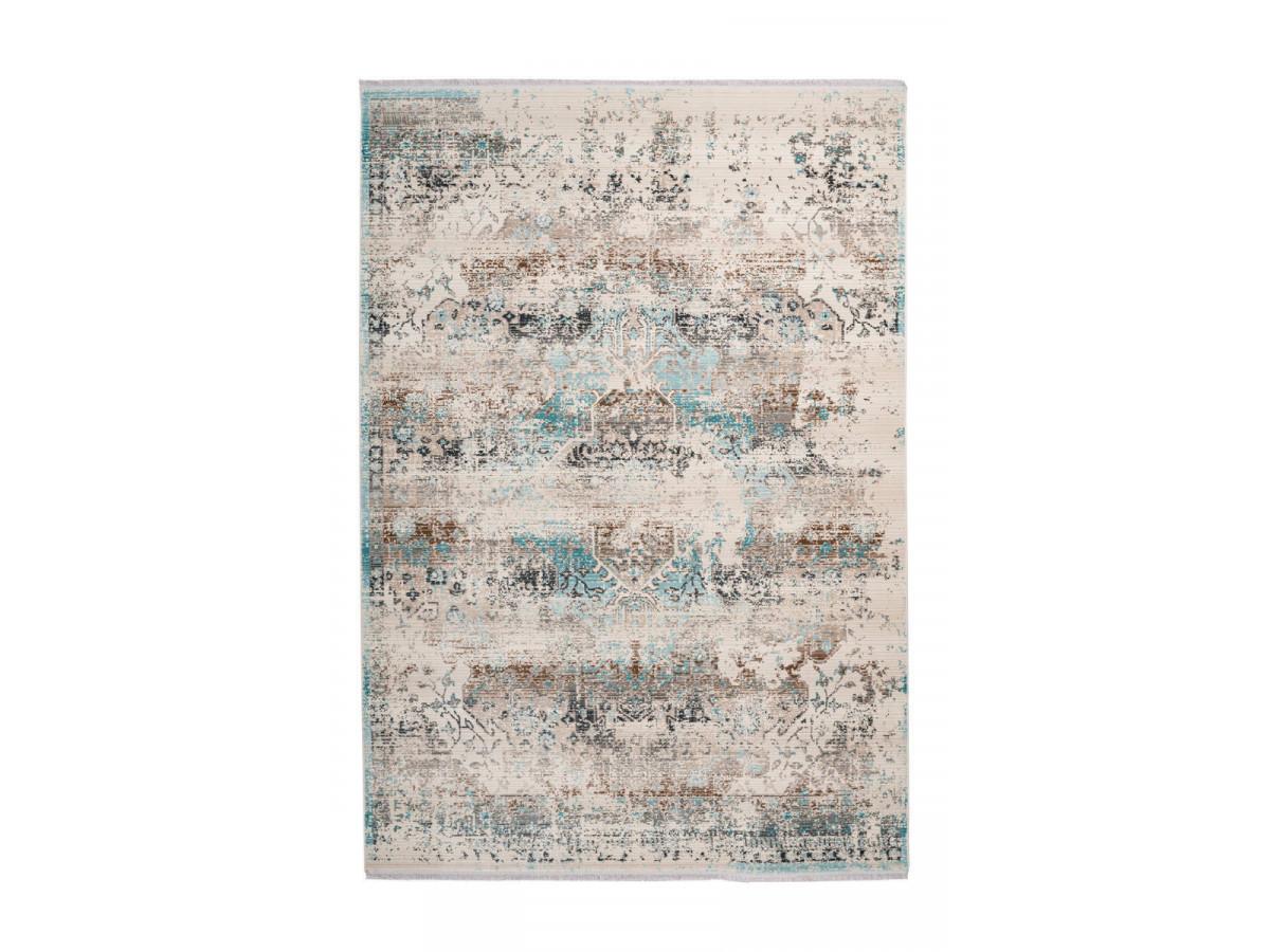 Tapis VERA Taupe / Turquoise 160cm x 230cm3