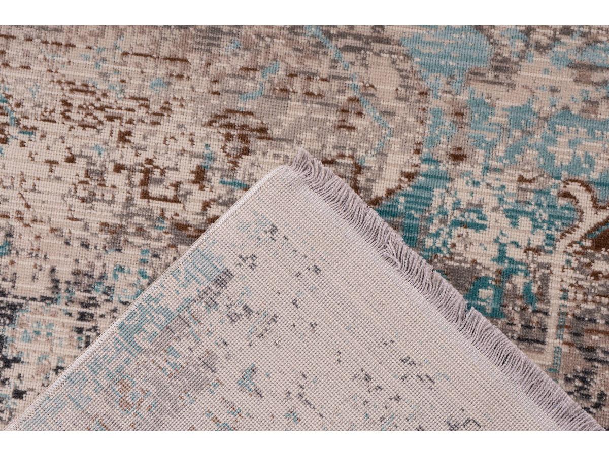 Tapis VERA Taupe / Turquoise 160cm x 230cm5