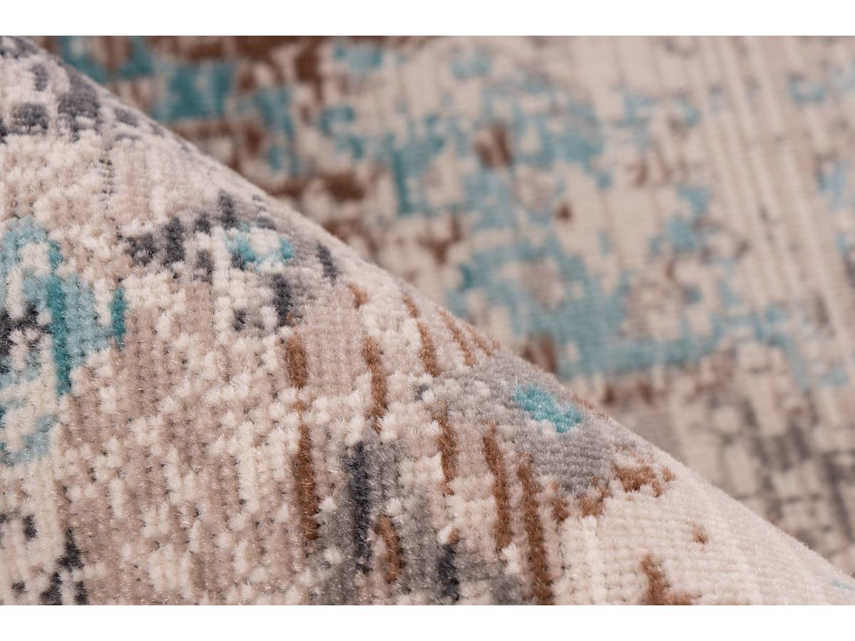 Tapis VERA Taupe / Turquoise 80cm x 150cm4