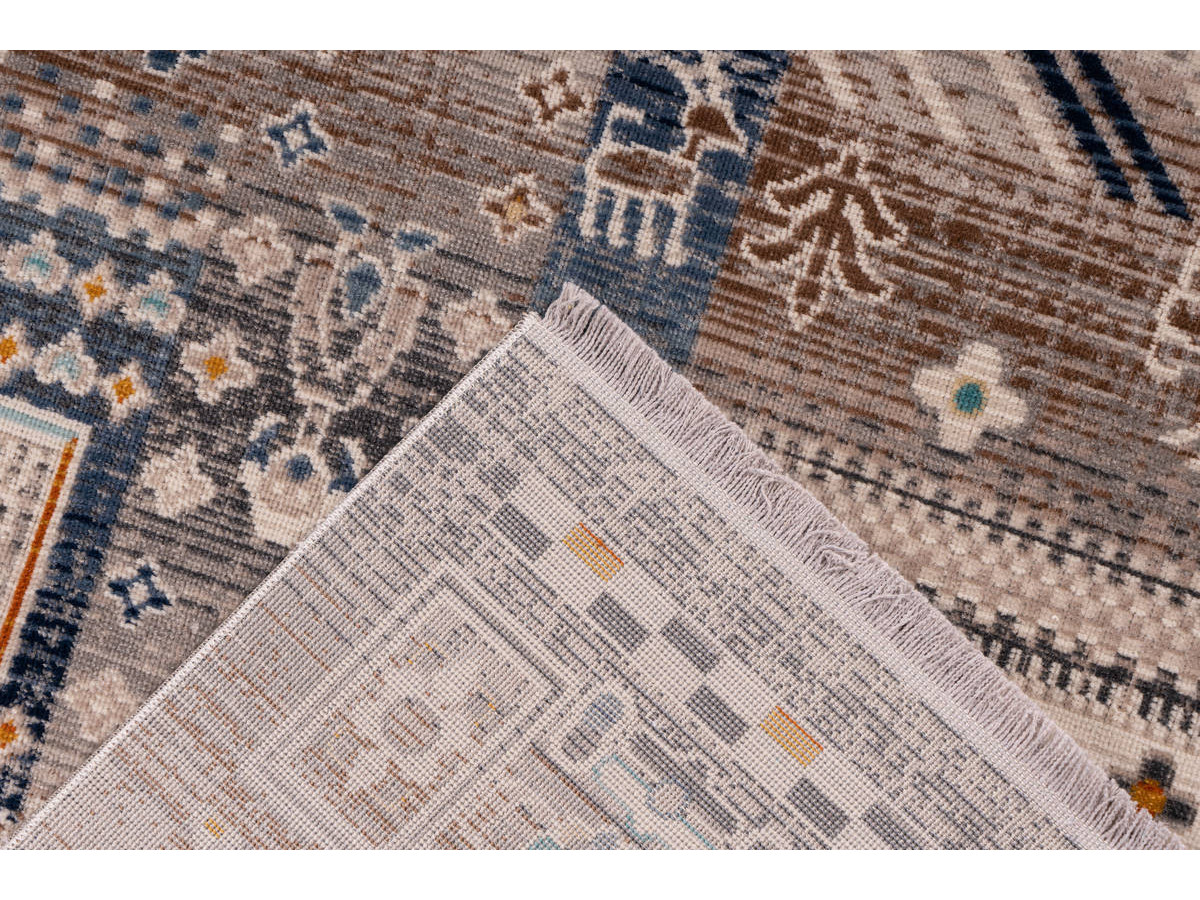 Tapis VIKI Marron / Bleu 160cm x 230cm5