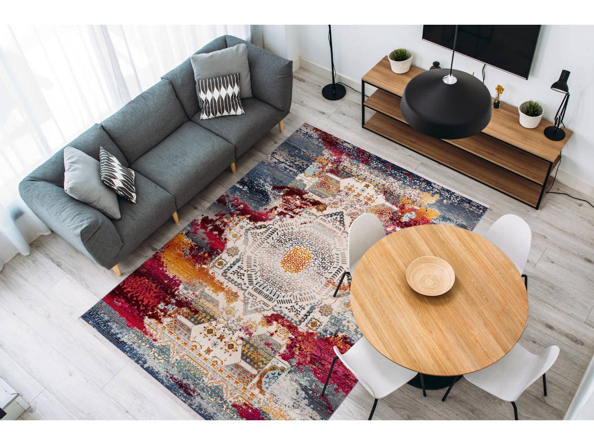 Tapis VIKI Multicolor / Rouge 120cm x 170cm1