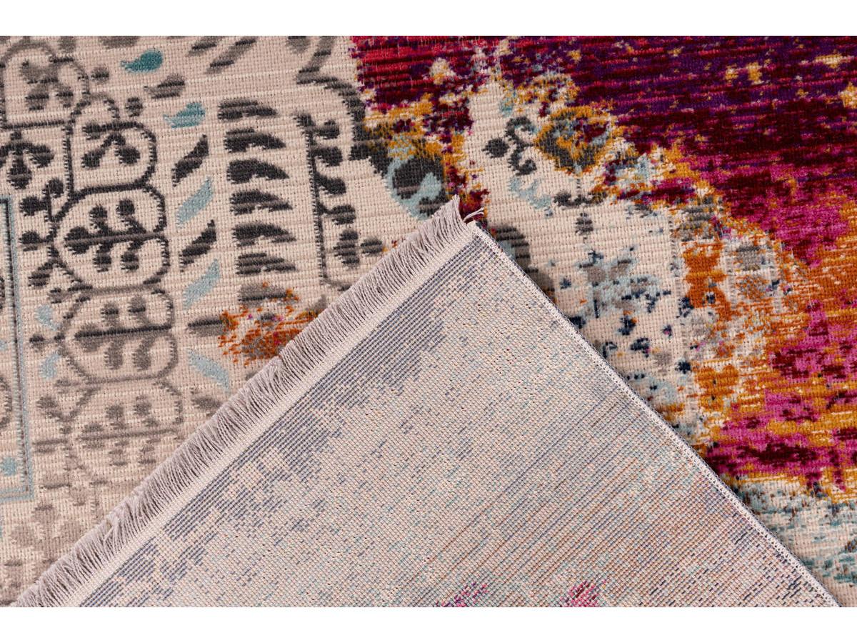 Tapis VIKI Multicolor / Rouge 120cm x 170cm5
