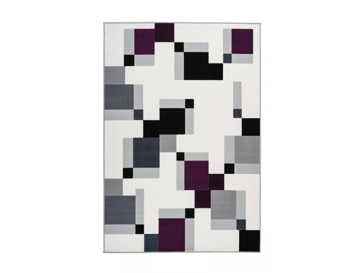 Tapis LUCIO Ivoire / Violet 160cm x 230cm3
