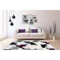 Tapis LUCIO Ivoire / Violet 80cm x 150cm1