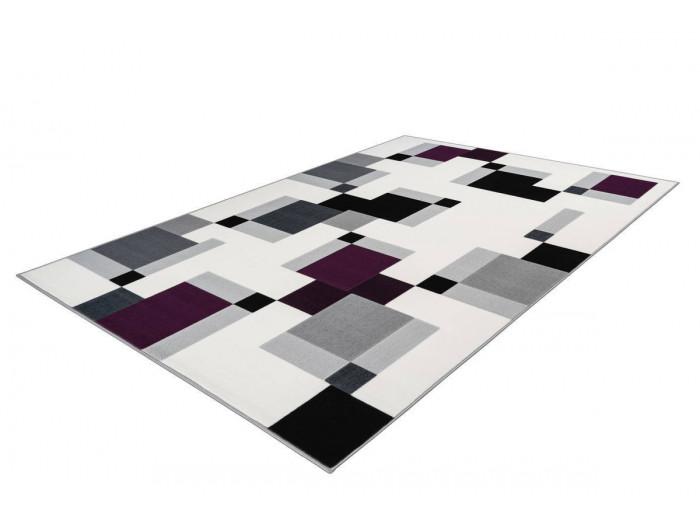 Tapis LUCIO Ivoire / Violet 80cm x 150cm