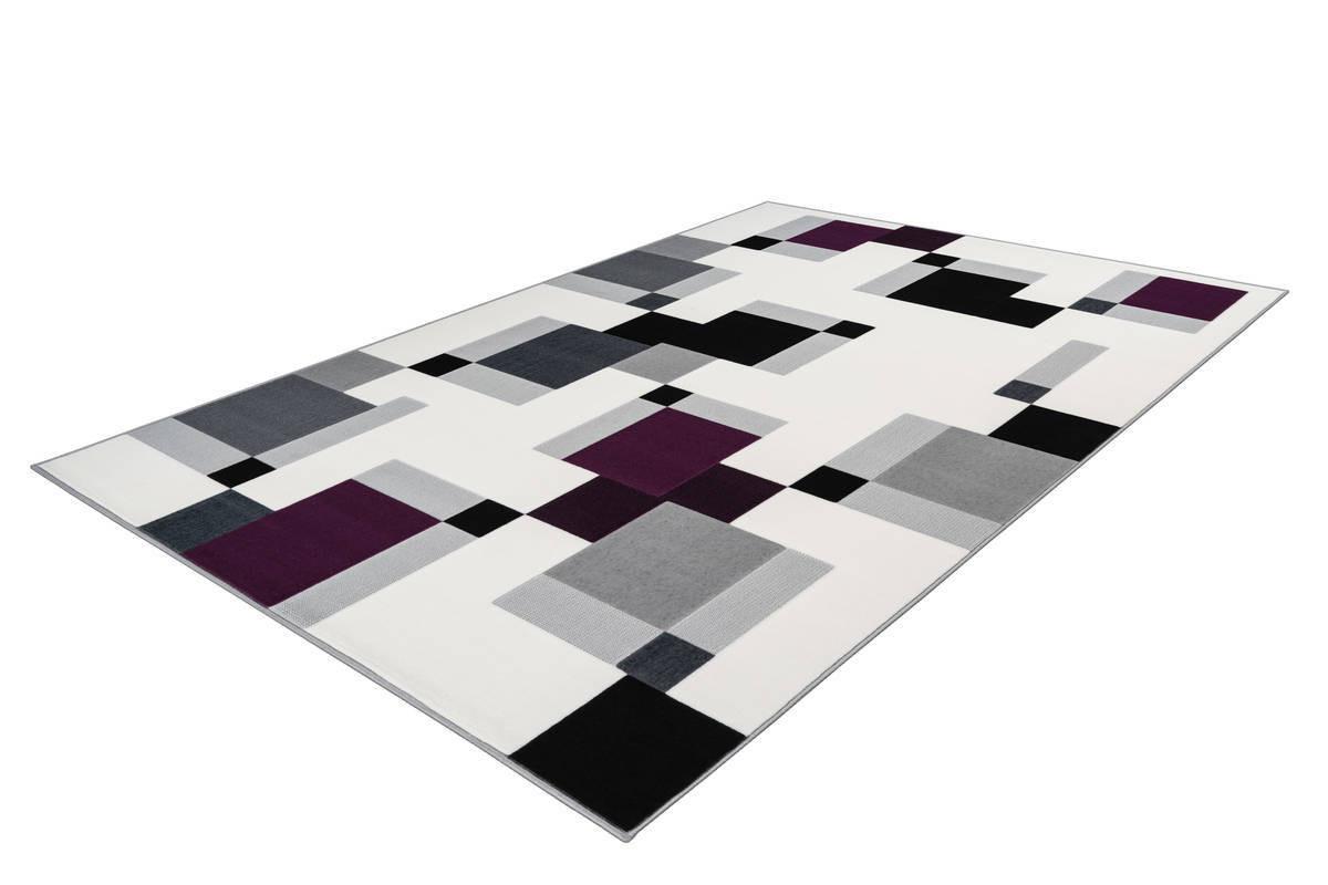 Tapis LUCIO Ivoire / Violet 80cm x 150cm2