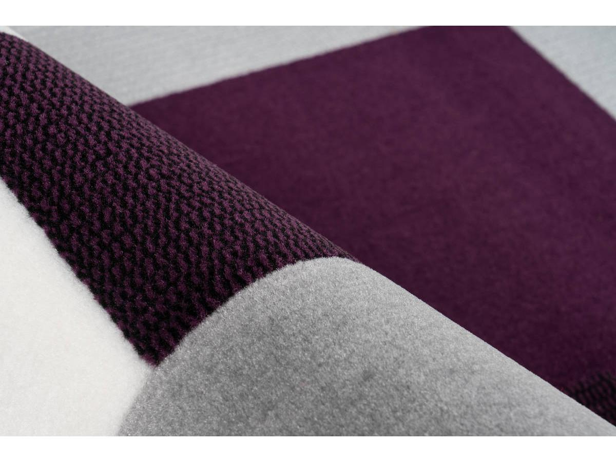 Tapis LUCIO Ivoire / Violet 80cm x 150cm4