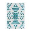 Tapis ZIKA Blanc/ Turquoise 200cm x 290cm3
