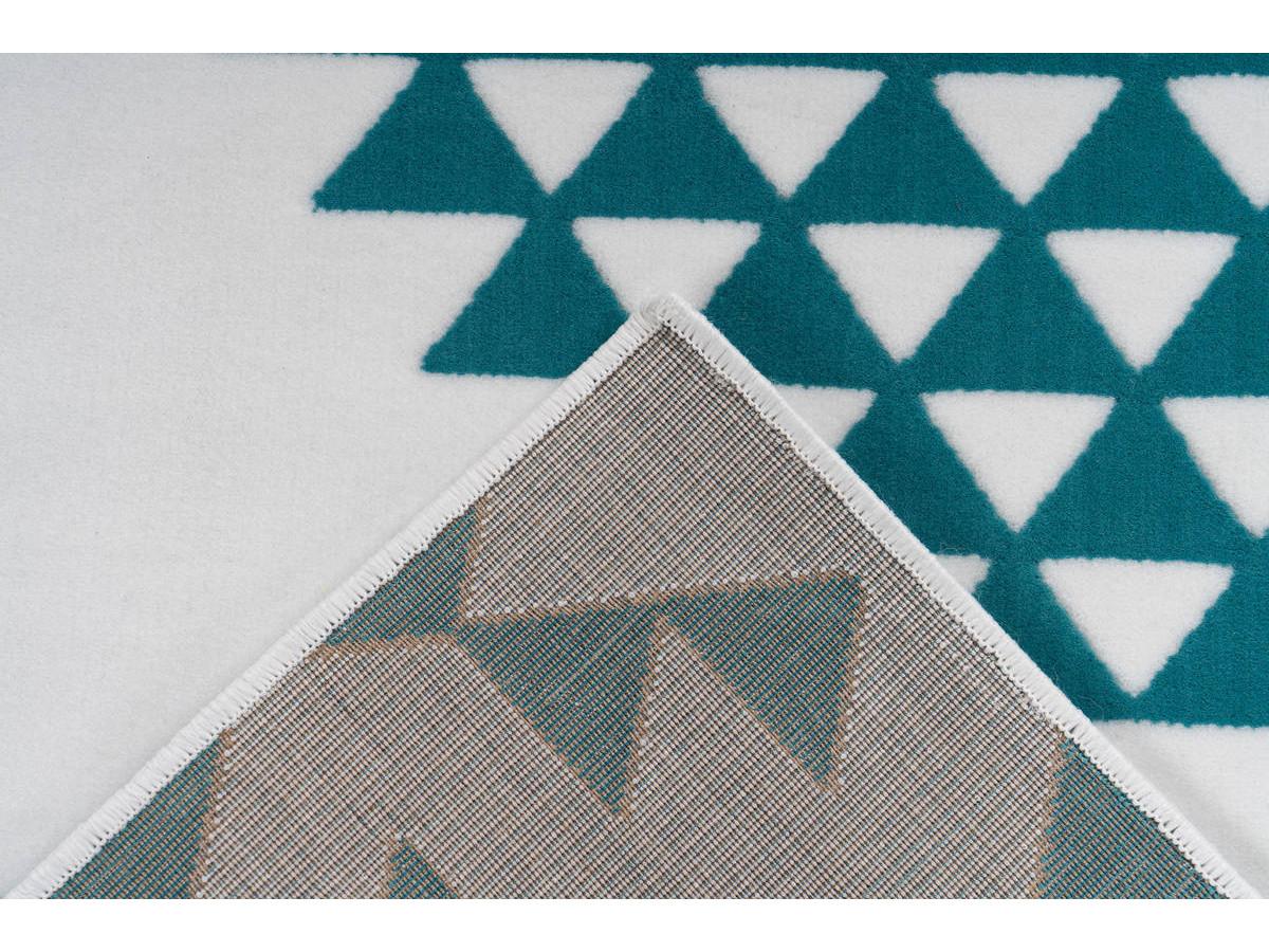 Tapis ZIKA Blanc/ Turquoise 200cm x 290cm5