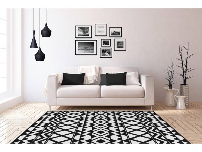 Tapis SAFI Noir / Blanc 200cm x 290cm1
