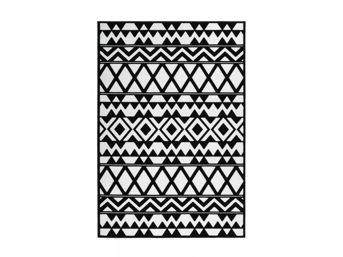 Tapis SAFI Noir / Blanc 80cm x 150cm3