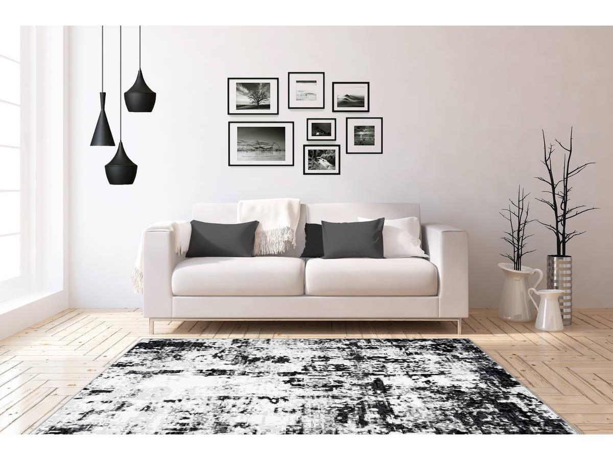 Tapis SANTOR Gris / Blanc 160cm x 230cm1