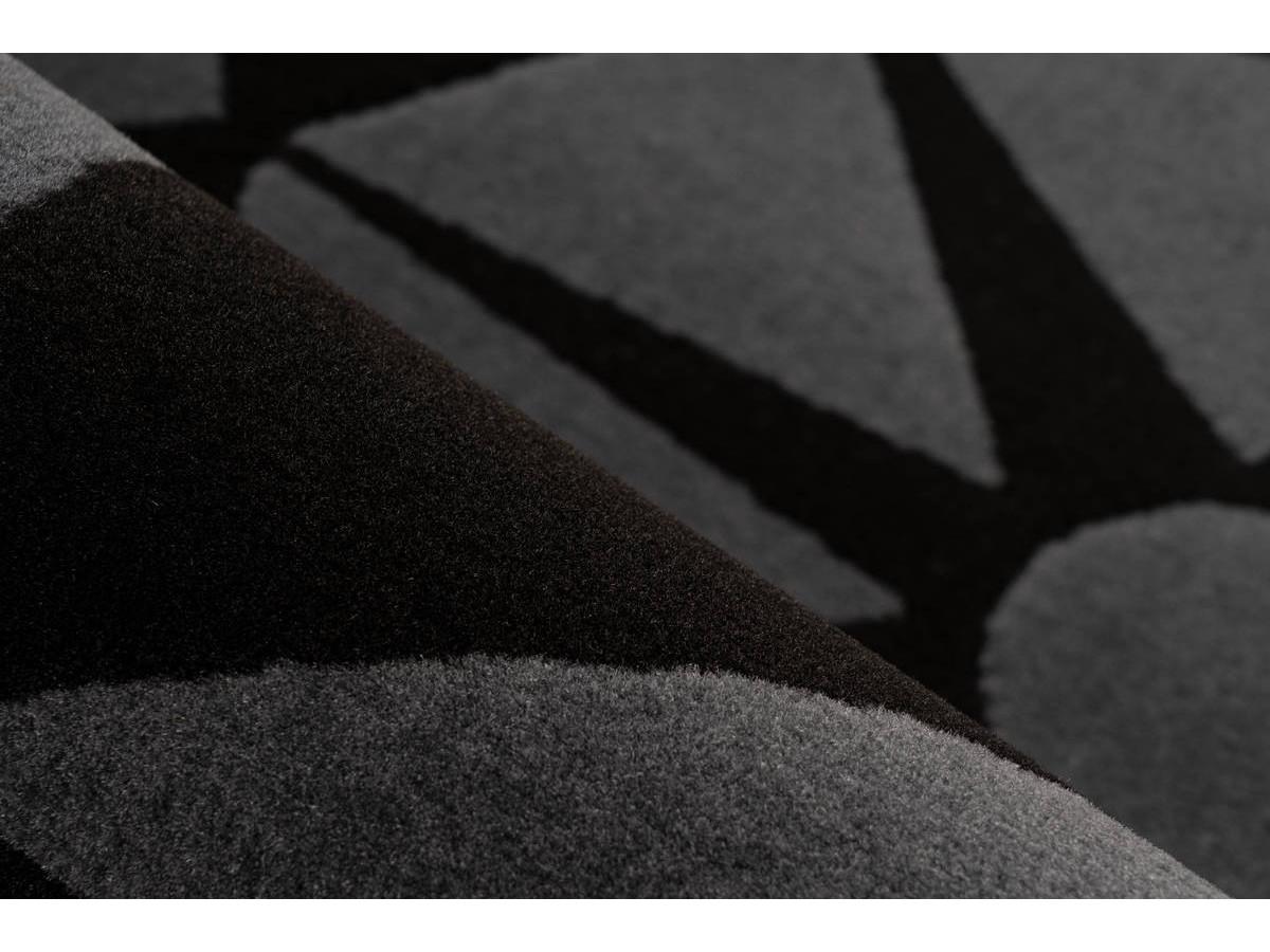 Tapis YOUMKA Gris / Noir Ø 120cm RUND4