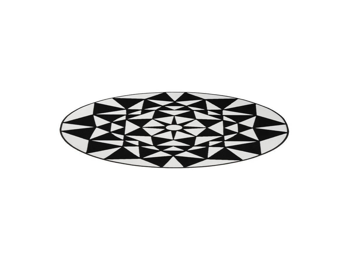 Tapis YOUMKA Blanc/ Noir Ø 120cm RUND