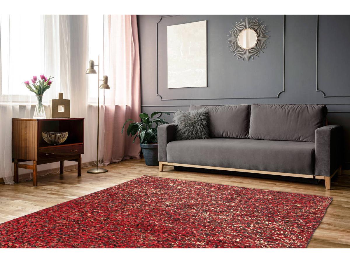Tapis TORI Rouge / Doré 200cm x 290cm1