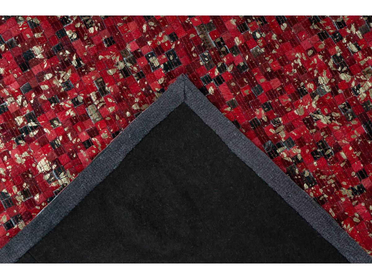Tapis TORI Rouge / Doré 200cm x 290cm5